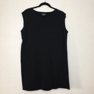 Eileen Fisher sleeveless black T-shirt tunic M